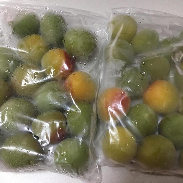 (レシピ)冷凍梅で梅酒を作る〜冷蔵庫の掃除も〜