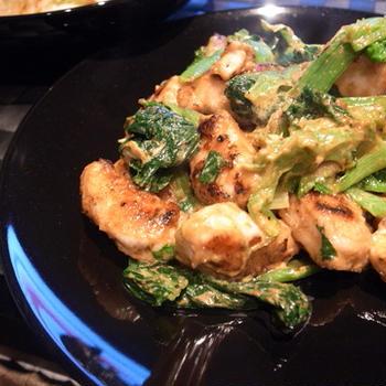 鶏肉のカレーマヨ炒め