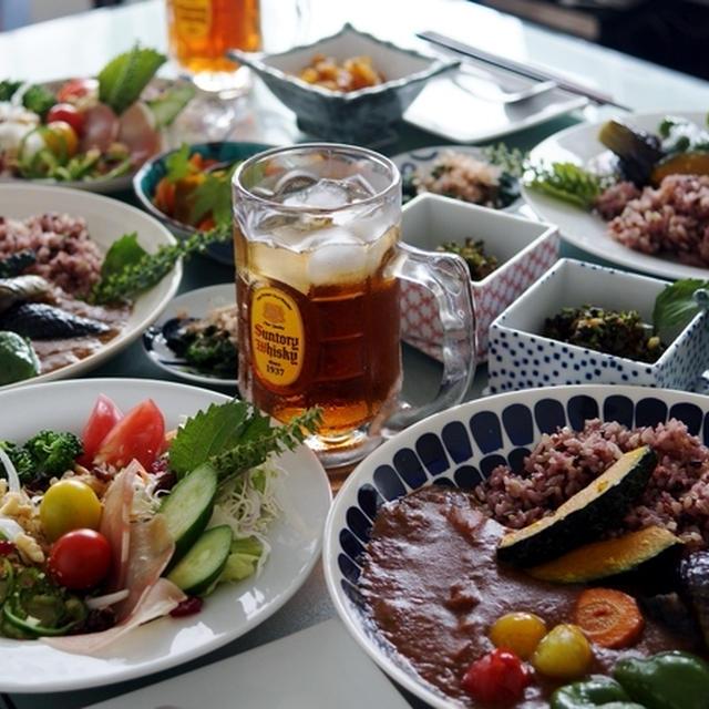 ■お泊り朝ご飯【夏野菜のカレーセット】半分は自宅で作って持参の ケータリングです♪