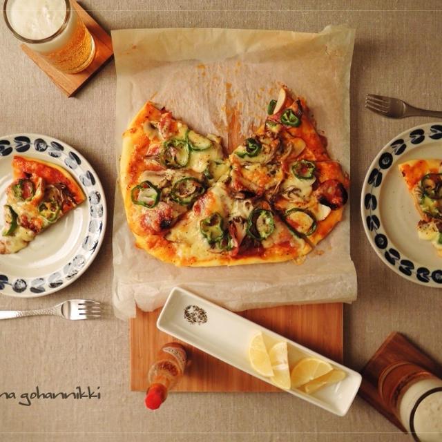 今日はPizzaの日。