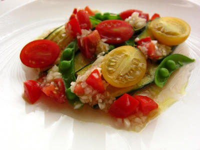 キレイ野菜のカルパッチォ風