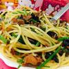 カツオフレークと香菜のベトナム風パスタ