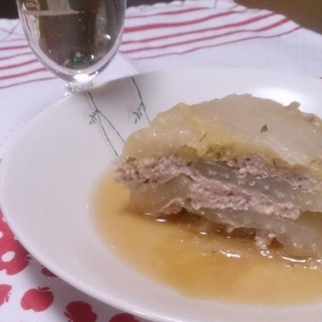 白菜と挽肉のミルフィーユ蒸し煮 #GABAN #ハウス #スパイス
