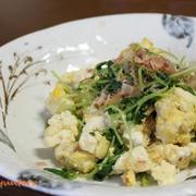 炒めるだけで簡単『豆腐と豆苗の炒り卵』~麺つゆ・鶏がらスープの素~