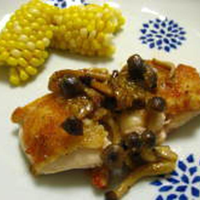 鶏のソテー 粒マスタードソース