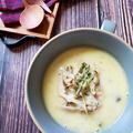 ~体も心もほっこり~【ごぼうとベーコンのミルクスープ】#スープ #ごぼう