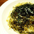 6月 その13 高菜のバターパスタと蛸と若布のガーリック