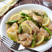 オススメ100均キッチン用品。鶏むね肉とアスパラのペッパーレモンマヨ炒め