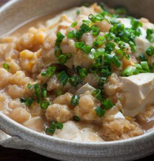 たぬき豆腐の卵とじ