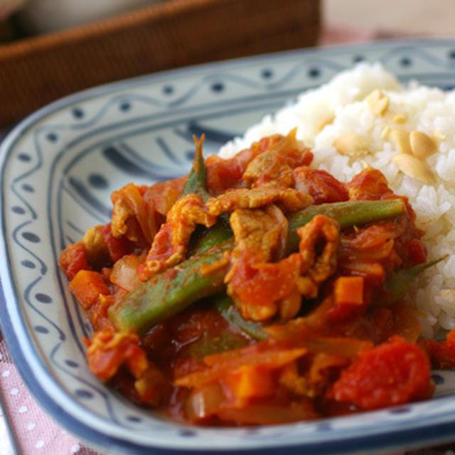 豚肉とモロッコインゲンのカレー