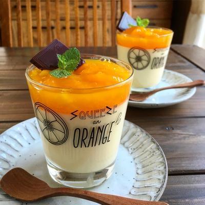 とっても簡単♪ オレンジマンゴームース〜夏休みのおやつに〜