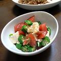 豆腐とオクラとトマトのサラダ