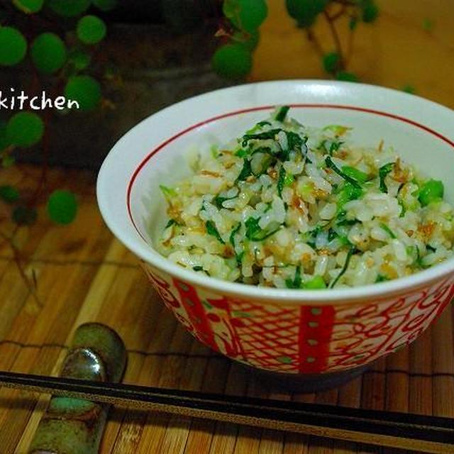 小松菜とちりめん山椒の混ぜご飯*。。。つくレポコーナー☆