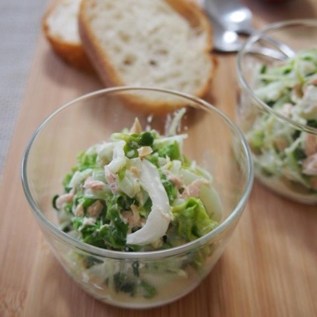 【簡単カフェサラダ】10分で♪デリ風!簡単*白菜とツナのコールスロー♪