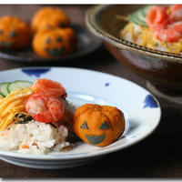 ハロウィンちらし寿司 (& ミニチュアかぼちゃ)