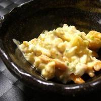 こんがりチーズと柿ピーのタルタルソース