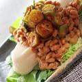 食べてびっくり?!妖怪食堂オクラ納豆ネバネバドーフ by mikity19さん