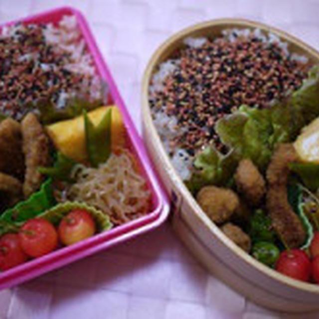【キャラ弁】ぶぅぶぅちゃん♪リベンジ弁当&鮭弁当