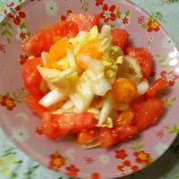 白菜&トマトの彩りキャロットドレッシングサラダ☆