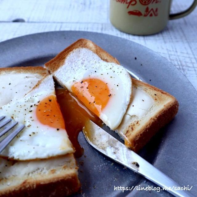 クリームチーズエッグトースト♡【#簡単レシピ#パン】