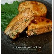 食材2つで☆鶏ひき肉とれんこんの照り照りつくね