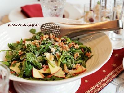 クリスマスに☆春菊とりんごのサラダ