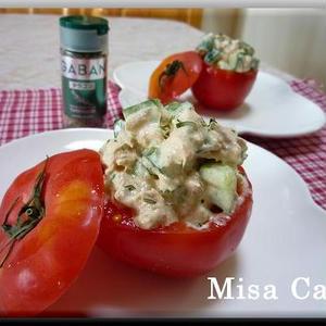 ★ツナときゅうりのトマトのカップサラダ