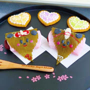 桜餅ミッキー&ミニー仕立て♪ひな祭りにオススメ^^