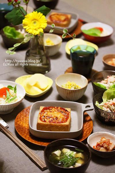 【献立】卵黄の味噌漬け丼と常備菜イロイロご飯。~世の中ってうまくできてんだなーと思った件について~