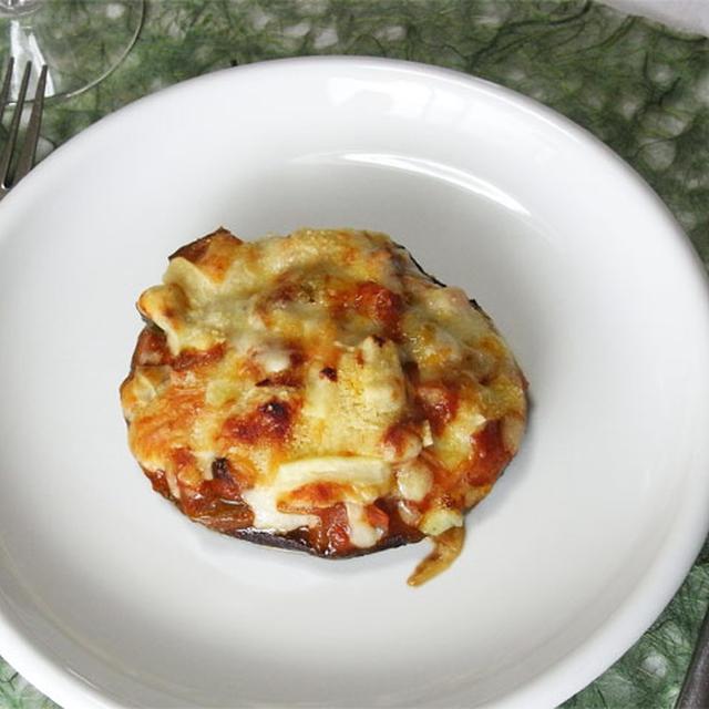 ピザ風椎茸のステーキ
