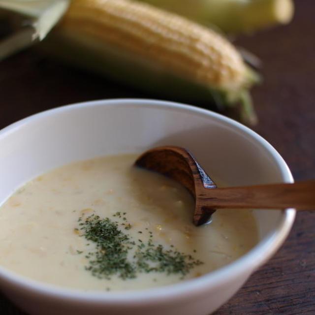 自家製コーンスープ。