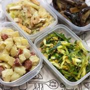 作り置き常備菜★茄子の胡麻酢炒め・キャベツと油揚げの中華蒸し・等々