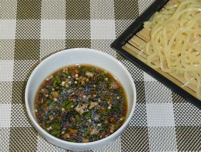 沖縄風オクラそば(中華つけ麺)