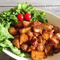 じゃがいもでボリュームUP♪鶏もも肉のウスターソース炒め☆簡単節約 by Legeloさん