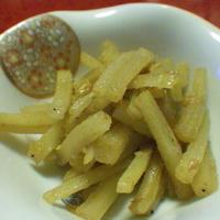 大根の皮と干しえびの和風カレー炒め きっちり食べきります(^_-)-☆