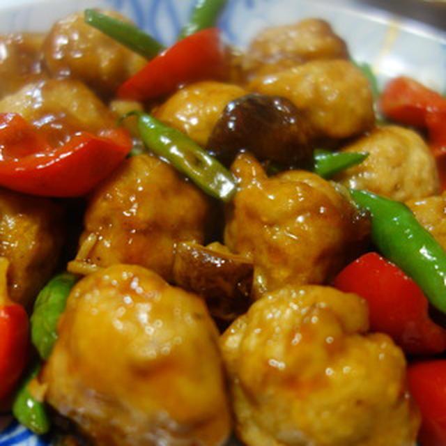 ふわふわ鶏団子の甘酢あん/釜揚げしらすのアヒージョ