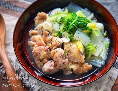 ♡あっさりコクうま♡鶏肉と白菜のうま塩煮♡【#8分#簡単レシピ#時短#節約#煮物】