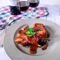 鍋で煮込むだけ‼︎赤ワインとオススメ☆GABANのクローブdeスペアリブの紅茶煮♡レシピ
