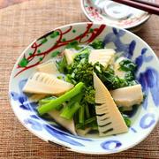 5分で本格和食♡菜の花と筍のさっと煮