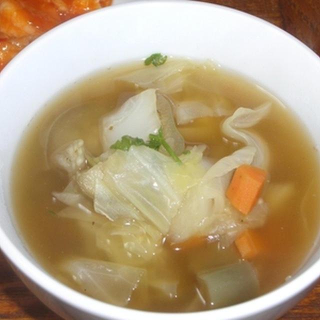 白なすとキャベツのスープ