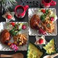 4時起床…と昨夜のクリスマスプレートご飯