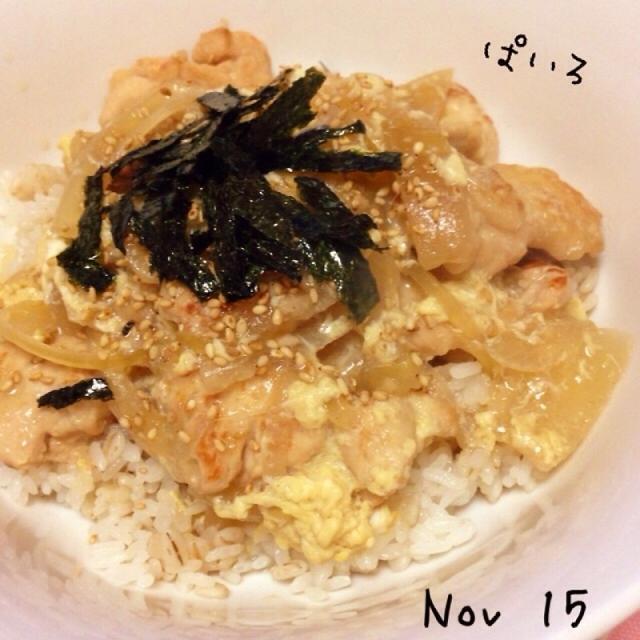 煮物のお出汁で☆とろみ風親子丼♪