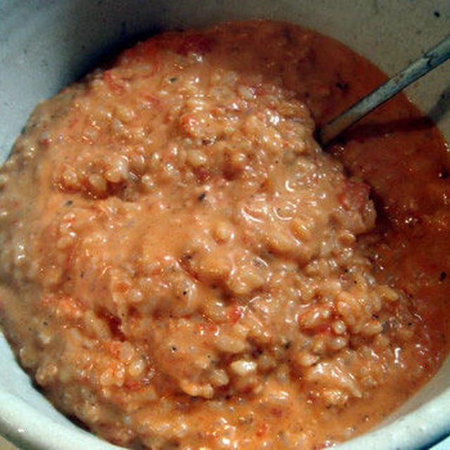 落合シェフ風 蟹のトマトクリームリゾット