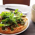 菜の花とクレソンとトマト・・柚子胡椒でピザ♪