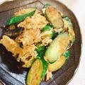 きゅうりと鶏皮のピリ辛炒め