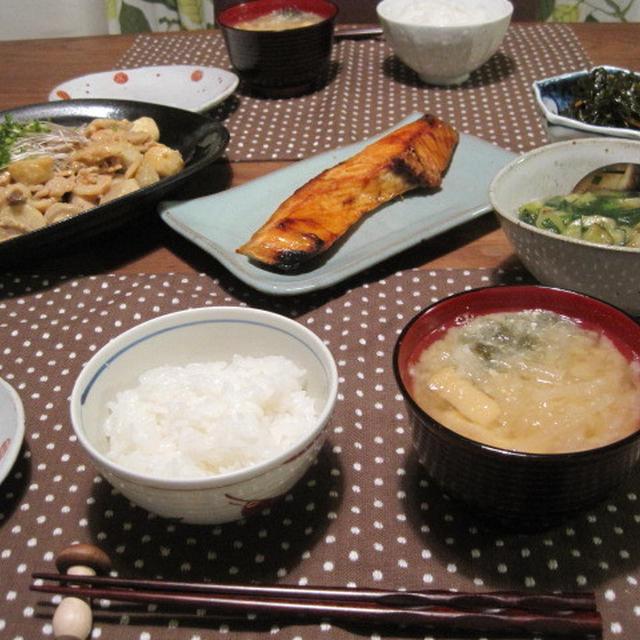 豚肉と里芋の味噌マヨ炒め