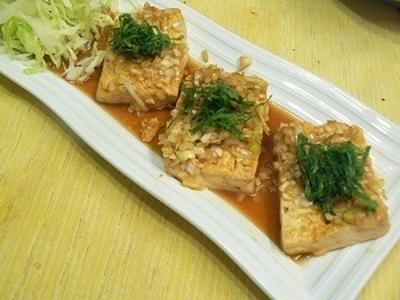 【つくレポ】豆腐ステーキ 香味だれ