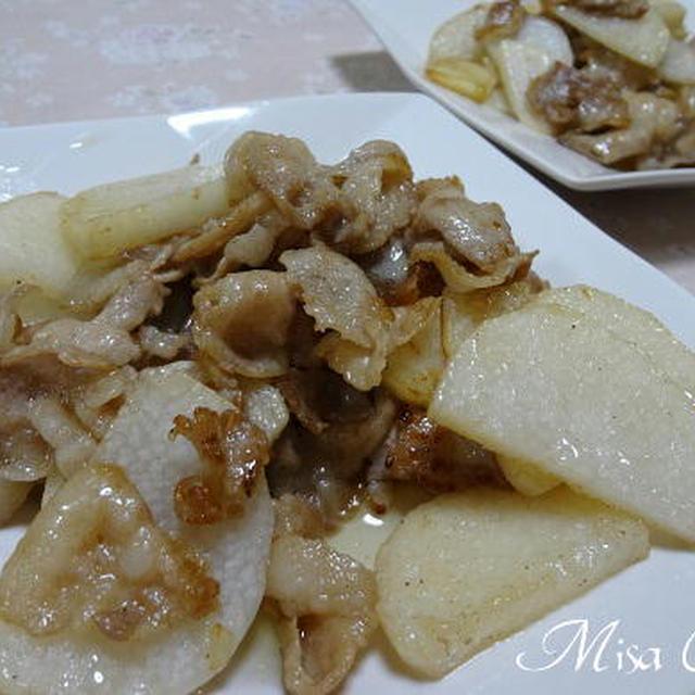 長芋と豚肉のニンニク炒め きゅうりとミニ・トマトのごま和え