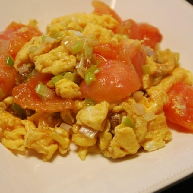 家常番茄蛋(トマトと卵の炒め物)。