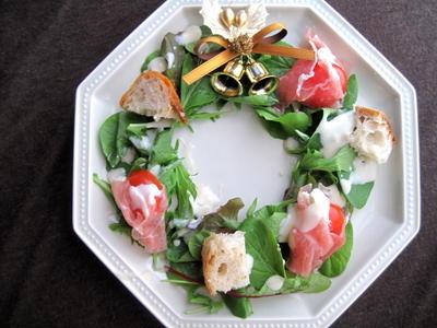 サラダ de クリスマスリース゚・:。☆